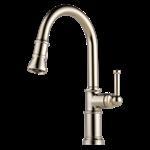 63025lf-pn Brizo Polished Nickel Artesso Single Handle Pull-down Kitchen Faucet CAT160BR,63025LF-PN,034449734868,34449734868