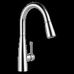 9113-dst Delta Chrome Essa Single Handle Pull-down Kitchen Faucet CAT160,9113-DST,034449787031,9113DST,34449787031