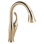 9192-cz-dst Delta Champagne Bronze Addison Single Handle Pull-down Kitchen Faucet With Shieldspray Technology CAT160FOC,034449707602,34449707602