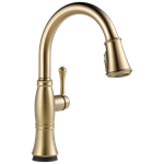 9197t-cz-dst D-w-o Delta Champagne Bronze Cassidy Single Handle Pull-down Kitchen Faucet With Touch2o And Shieldspray Technologies