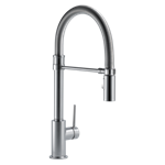 9659-ar-dst Delta Arctic Stainless Trinsic Single Handle Pull-down Kitchen Faucet With Spring Spout CAT160FOC,9659ARDST,MFGR VENDOR: DELTA,PRCH VENDOR: BEST,34449818094,034449818094