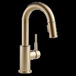 9959-cz-dst Delta Champagne Bronze Trinsic Single Handle Pull-down Bar / Prep Faucet CAT160FOC,9959-CZ-DST,034449644440,9959CZDST,34449644440,