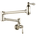 1177lf-pn Delta Polished Nickel Traditional Wall Mount Pot Filler CAT160FOC,10034449821398,034449821391,34449821391