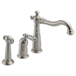 155-ss-dst Delta Stainless Victorian Single Handle Kitchen Faucet With Spray CAT160FOC,155SSDST,034449589598,green,DELTA GREEN,34449589598,