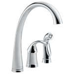 4380-dst Delta Chrome Pilar Single Handle Kitchen Faucet With Spray CAT160FOC,Other,034449589635,green,DELTA GREEN,LEAD FREE,Lead Free,34449589635,