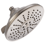 52680-ss Delta 2.5 Gpm 3 Function Brilliance Stainless Showerhead CAT160S,52680-SS,0034449669771,034449669771,34449669771,34449833073