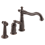 155-rb-dst Delta Venetian Bronze Victorian Single Handle Kitchen Faucet With Spray CAT160FOC,155RBDST,034449589581,DELTA GREEN PRODUCTS,green,34449589581,