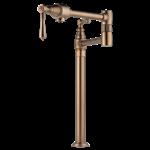 62710lf-bz Brizo Brilliance Brushed Bronze Traditional Deck Mount Pot Filler Faucet CATD160BR,62710LF-BZ,034449610056,