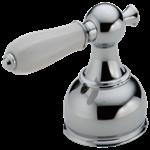 H612 Delta Chrome Porcelain Lever Handle Set - Roman Tub CAT160HA,H612,H612CP,03444425551,10034449425503,10034449425558,16030396,034449425551,34449425551,