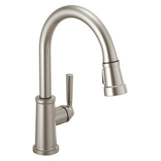 Delta Faucet Company Peerless Stainless Westchester Single Handle Pull Down Kitchen Faucet