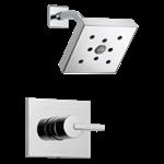 T14253-h2o Delta Chrome Vero Monitor 14 Series H2okinetic Shower Trim