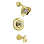 T14455-pblhp Delta Polished Brass Victorian Monitor 14 Series Tub & Shower Trim - Less Handle