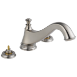 T2795-sslhp Delta Stainless Cassidy Roman Tub Trim - Low Arc Spout - Less Handles CAT160FOC,T2795-SSLHP,034449681667,T2795SSLHP,34449681667,