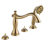T4797-czlhp Delta Champagne Bronze Cassidy Roman Tub With Hand Shower Trim - Less Handles CAT160FOC,T4797-CZLHP,034449681636,T4797CZLHP,34449681636,