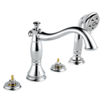 T4797-lhp Delta Chrome Cassidy Roman Tub With Hand Shower Trim - Less Handles CAT160FOC,T4797-LHP,034449681605,T4797LHP,34449681605,