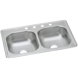 D-23319-3 Double Comp Ss Sink 33x19x61/4 3h Dayton CAT141,D233193,DAYD233193,14100804,094902008677