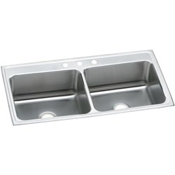 Dlr4322121 43x22x12.125 Dbl Compartment Elkay 18 Ga Ss Lustertone Sink Top Mount CATD140C,DLR4322121,SINKS,DLR4322121,DLR4322121,94902104140,
