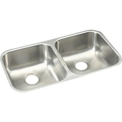 Eguh3118 Elkay Dbl Bowl Undermount Sink Soft Satin Finish CAT140E,EGUH3118,ELUH3118,NNNN:EGUH3118,999000080604,UMS,94902366234,094902366234,