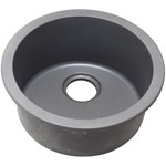 Elg16fbgs Gray Stone Quartz 18.151 Roundx7.5 Single Bowl Dualuniversal Mount Bar/prep Sink