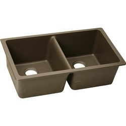 Elgu3322mc Mocha Quartz Classic 33x22 Undermount Double Bowl Sink CAT140G,ELGU3322MC,UMS,QUARTZ CLASSIC,94902441115