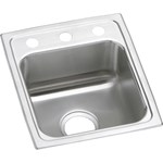 Lr15173 18 Gauge Stainless Steel 15x17.5x7.625 Single Bowl Top Mount Bar/prep Sink