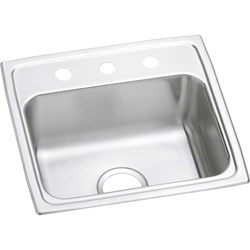 Lr19193 18 Gauge Stainless Steel 19.5x19x7.5 Single Bowl Top Mount Kitchen Sink CAT140C,LR19193,LR,LR1919,94902178004