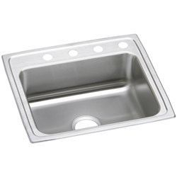 Psr-2522-0 25x22x7.5 Single Compartment Elkay 20 Ga Brilliant Satin Celebrity Sink No Hole Top Mount CATD140C,ELKPSR25220,PSR25220,PSR,PSR2522,