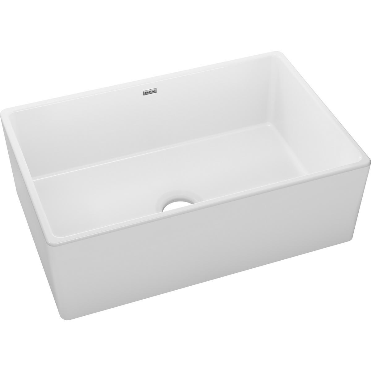 Elkay Mfg Co Explore Deep Single Bowl Apron Sink White