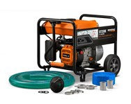 6822 2 Semi-trash Water Pump With Hose And Wheel Kit