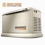 7209 Generac 24/21kw Air Cooled Standby Generator With Wifi, Aluminum Enclosure
