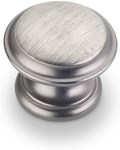 """0251bnbdl Bright Nickel Burnished With Dull Lacquer 1-3/8"""" Diameter Cabinet Knob"""