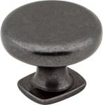 "Mo6303dacm 1-3/8"" Dia Forged Look Flat Bottom Knob Dark Antique Copper Machined"