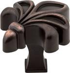 """925dbac Dark Brushed Antique Copper 1-3/4"""" Overall Length Zinc Die Cast Fleur De Lis Cabinet Knob"""