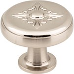 "417sn Satin Nickel 1-3/8"" Overall Length Zinc Die Cast Lafayette Cabinet Knob"