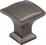 435bnbdl Brushed Pw 1-1/4in Length Pillow Cab Knob