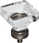 """G140l-dbac 1-3/8"""" Overall Length Glass Square Cabinet Knob. Packaged With One 8-32 X 9/16"""" And 1-3/4"""" Break-away Screw. Finish: Brushed Oil Rubbed Bro"""