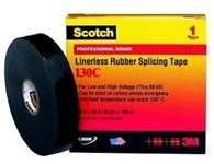 130c-1-1/2x30ft 3m Scotch Black Rubber Insulation Tape CAT721,CN130C,S130CJ30,130J,130C,ETS,S130C,05400741718,