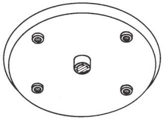 145 1/2 In Bore, 6-3/4 In Dia Nylon Rain Shield 1/4 Shft CAT804,AE145,