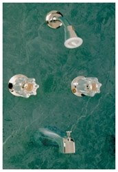 Ts200m Chrome Allen Two Handle Tub/shower Faucet W/metal Handles CATALF,TS200M,