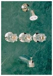 Ts300m Chrome Allen Three Handle Tub/shower Faucet W/metal Handles CATALF,TS300M,