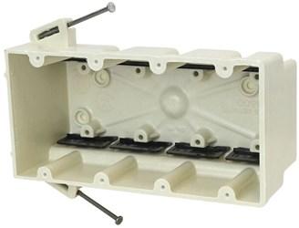 4300-nk Amp 60 Cu In 4 Gang Beige/tan Electrical Box CATAMP,08533916226,SHL4300NK,4300NK,4GB,