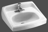 0356421020 A/s Lucerne White 1 Hole Wall Mount Bathroom Sink CAT111C,0356421,20310,K2031WH,20310,K23310,0356421020,0356,0356020,033056044056,