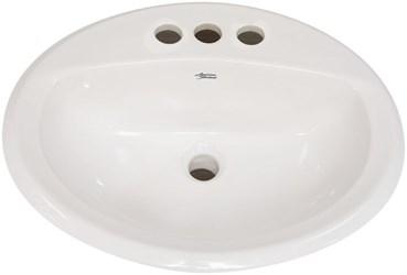 0476028021 A/s Aqualyn Bone 3 Hole Counter Top Bathroom Sink CAT111,ASCL4BO,K2196,K2196AL,0476028,2196,2196AL,219647,K219647,0476028021,ALOBO,AOBO,ALO4BO,AO4BO,ALO4,0476,0476021,0476BON,0476BO,A4L,033056025468,