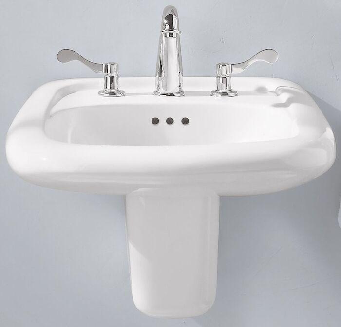 American Standard Brand 0954004ec020 American Standard Murro White 3 Hole Wall Mount Bathroom Sink
