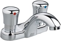 1340225002 As Polished Chrome Ada Lf 4 In Centerset 1 Hole 2 Handle Metering Faucet 1 Gpm CAT117C,1340.225.002,1340.225.002,1340.225.002,012611374678,1340225002,green,WATER EFFICIENT,