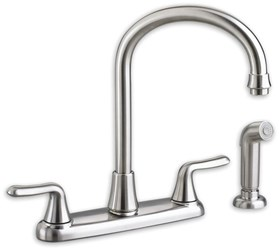 4275551002 As Colonysoft Ada Pol Chrome Lf 8 In Centerset 3 Hole 2 Handle Kitchen Faucet Color Matched Handspray CAT117E,4275551002,4275551,942611329036,30012611329037,4275,ASKSF,green,WATER EFFICIENT,C4K,7074551002,7074.551.002,012611329036