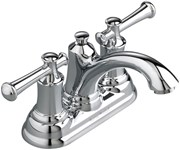 7415201002 As Portsmouth Polished Chrome Ada Lf 4 Centerset 3 Hole 2 Handle Bathroom Sink Faucet 1.2 Gpm