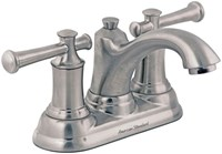 7415201295 As Portsmouth Pvd Satin Nickel Ada Lf 4 Centerset 3 Hole 2 Handle Bathroom Sink Faucet 1.2 Gpm
