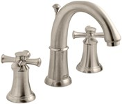 7420821295 As Portsmouth Pvd Satin Nickel Ada Lf 6 To 12 Widespread 3 Hole 2 Handle Bathroom Sink Faucet 1.5 Gpm