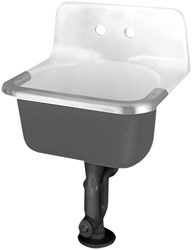 7695008020 A/s Akron White 2 Hole Wall Mount Bathroom Sink CAT106,7695008,7695008020,866,866WH,6716-0,K6716WH,K6716,K6716-0,C2420,C2420WH,033056567531,